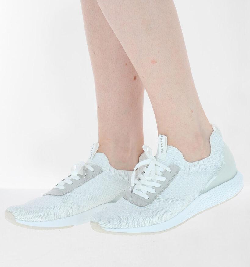 Tamaris Fashletics Zilveren Slip-on Sneakers in stof (280751)