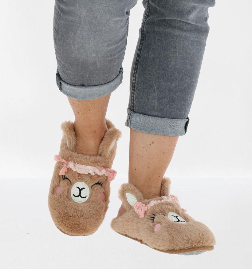 Marline Beige Pantoffels in stof (281941)