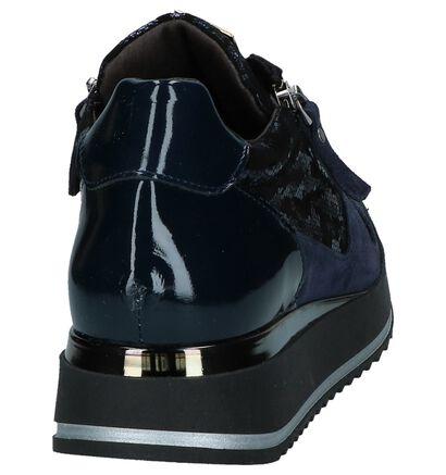 Scapa Chaussures à lacets en Bleu foncé en cuir verni (227405)