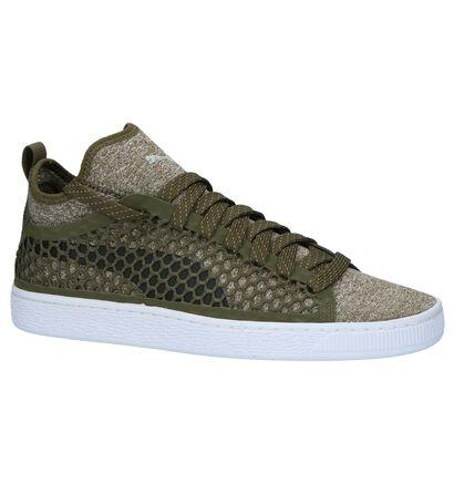 Puma Basket Classic Kaki Sneakers, Groen, pdp