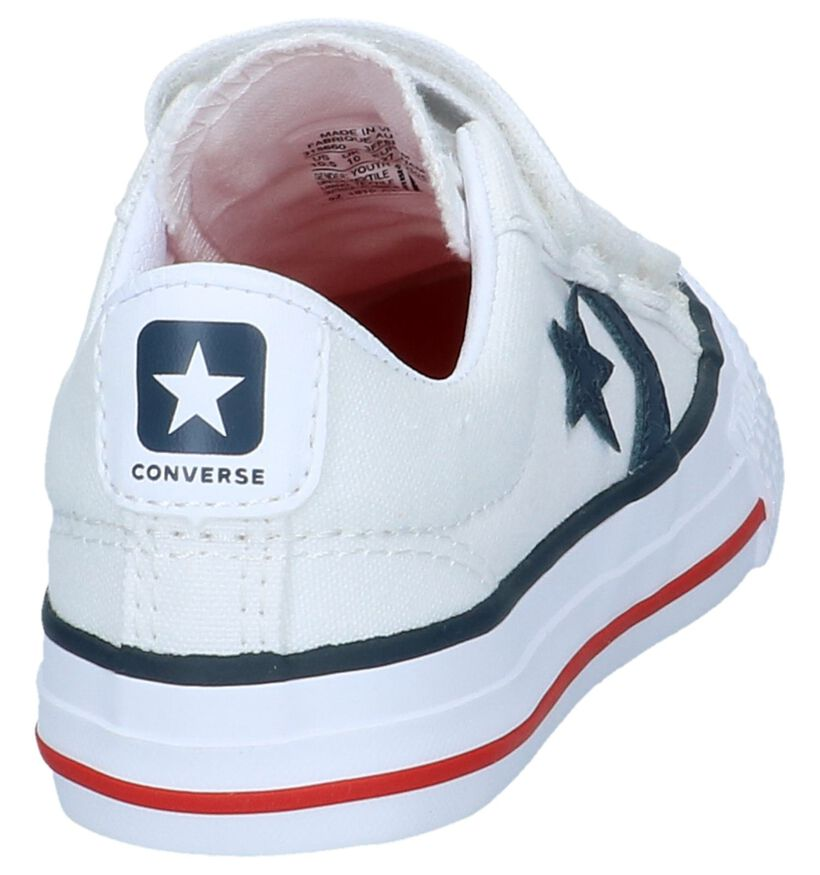 Witte Sneakers Converse Star Player in stof (238418)