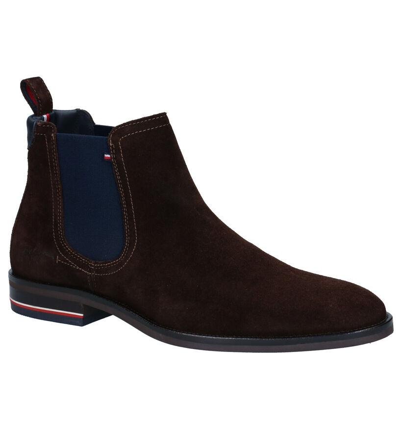 Tommy Hilfiger Signature Chelsea Boots en Brun en daim (279967)