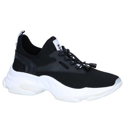 Zwarte Slip-on Sneakers Steve Madden Match in stof (256076)
