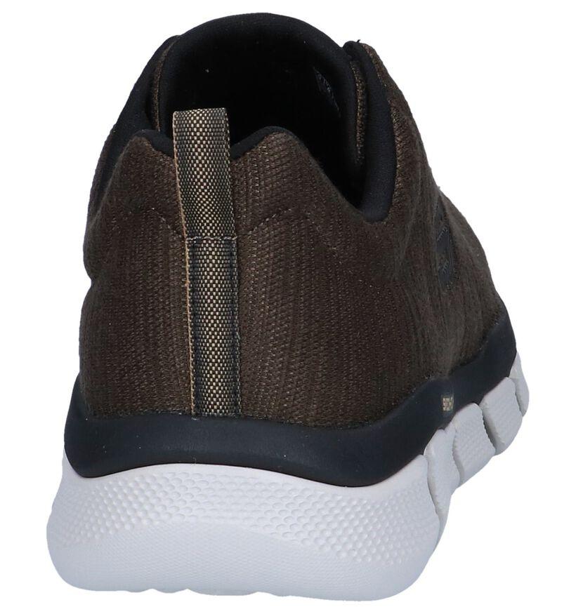 Kaki Sneakers Skechers Relaxed Fit Skech-Flex 3.0 in stof (247389)