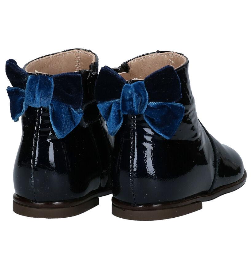 Beberlis Bottes basses en Bleu foncé en cuir (281152)