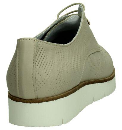 Duee Chaussures à lacets en Beige clair en cuir (190272)