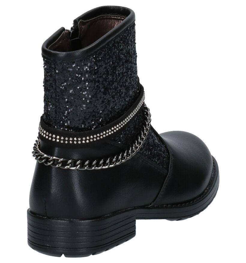 Asso Bottes basses en Noir en simili cuir (254995)