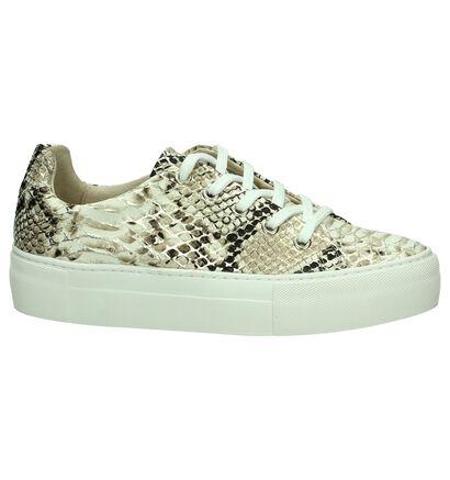 Softwaves Sneakers Beige/Goud met Slangenprint, Beige, pdp