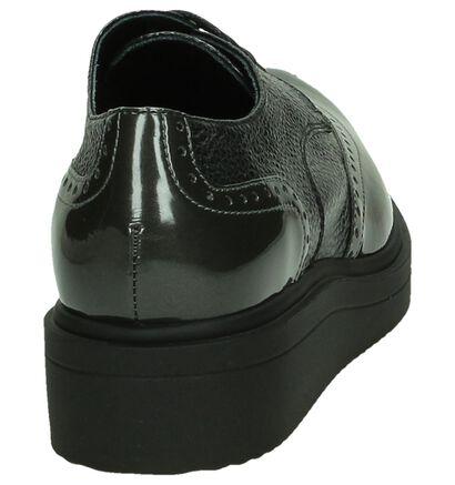 Hampton Bays Chaussures à lacets en Gris foncé en cuir (182946)