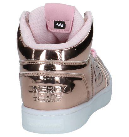 Roze Metallic Hoge Sneakers met Lichtjes Skechers in imitatieleer (222865)
