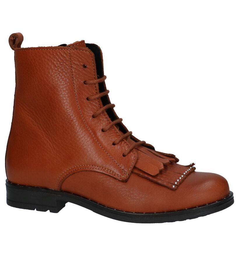 Bana & Co Chaussures hautes en Cognac en cuir (230876)