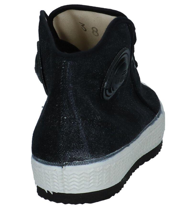 0051 Baskets hautes en Noir en textile (251497)