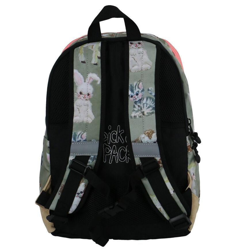 Pick & Pack Sacs à dos en Vert clair en textile (260821)