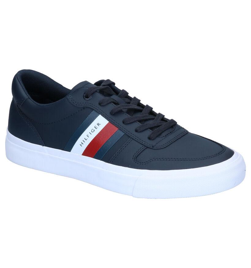Tommy Hilfiger Core Blauwe Sneakers in leer (293054)
