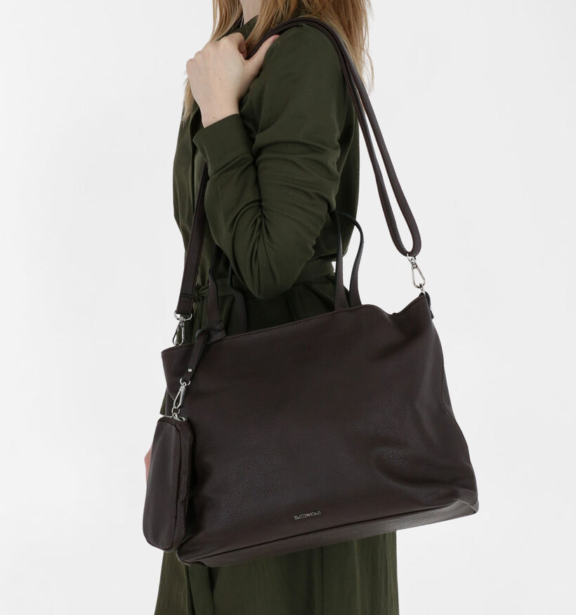 Emily & Noah Zwarte Bag in bag Shopper in kunstleer (282183)