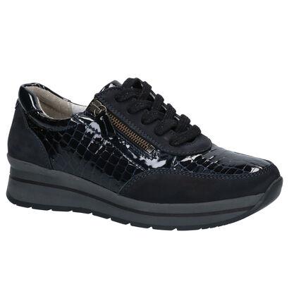 Mirel Blauwe Sneakers in lakleer (256438)