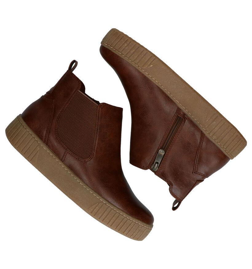 Marco Tozzi Cognac Chelsea Boots in kunstleer (280486)