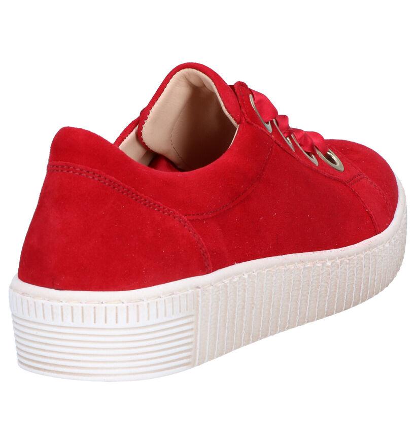 Gabor Best Fitting Sneakers en Rouge en daim (265854)