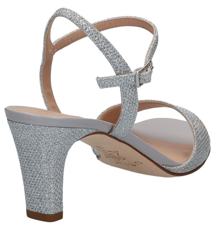 Unisa Sandales à talons en Or en textile (274898)
