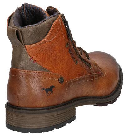 Mustang Cognac Boots in kunstleer (260327)