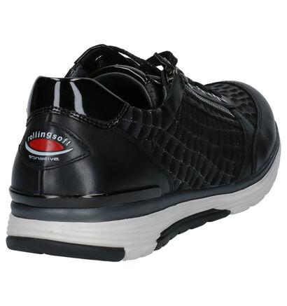 Gabor Rollingsoft Zwarte Lage Schoenen in leer (260225)