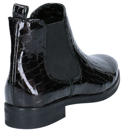 Hampton Bays Mia Zwarte Boots in lakleer (253804)