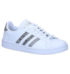 adidas Grand Court Witte Sneakers in kunstleer (276444)