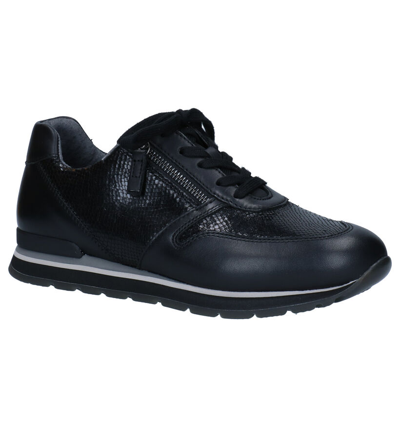 Gabor OptiFit Chaussures à lacets en Noir en cuir (282315)
