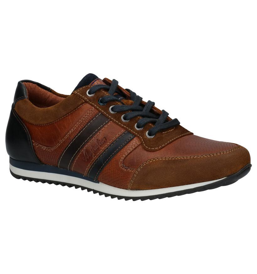 Australian Cornwall Chaussures à lacets en Bleu en cuir (282659)