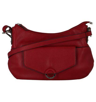 Laurent David Sacs porté croisé en Rouge en simili cuir (230065)