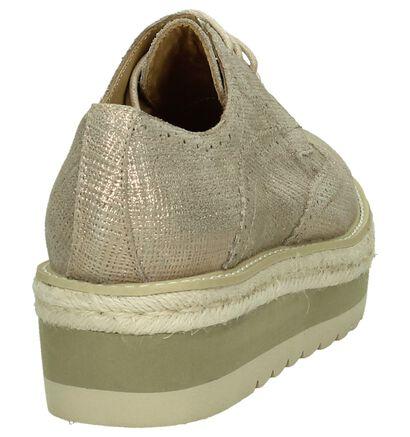 Alma en Pena Chaussures à lacets en Rose en textile (196167)