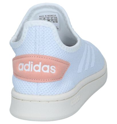 adidas Court Slip-on en Blanc en textile (237031)