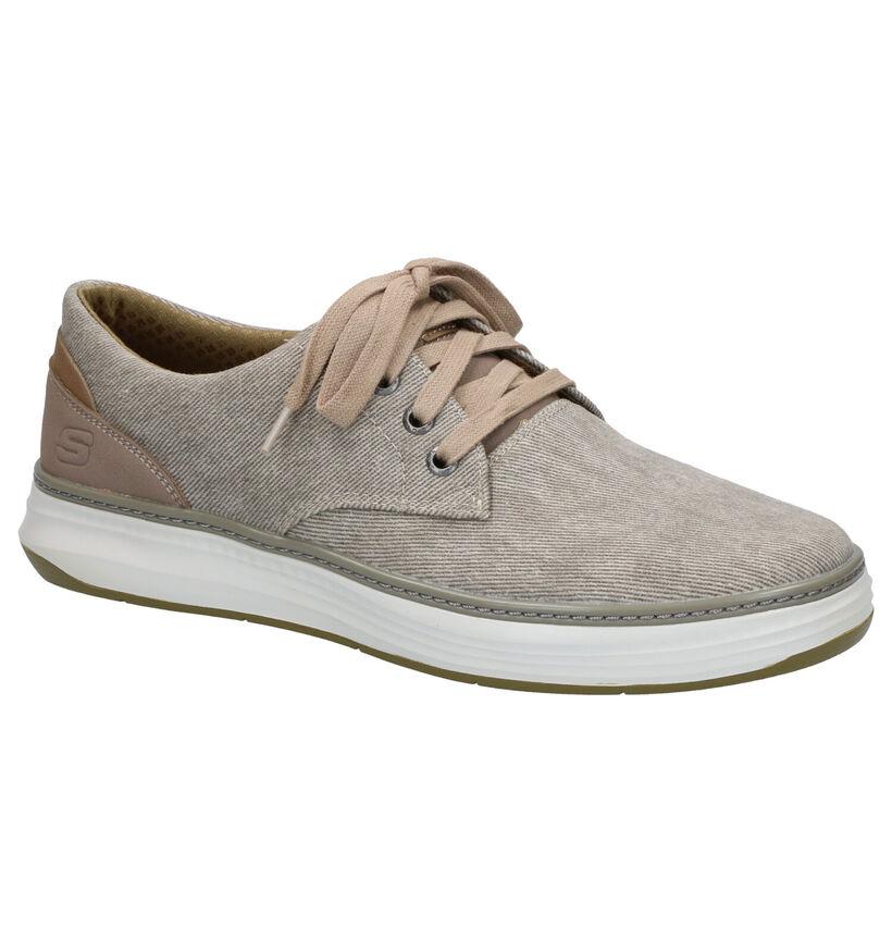 Donkergrijze Lage Sneakers Skechers Moreno in stof (272805)