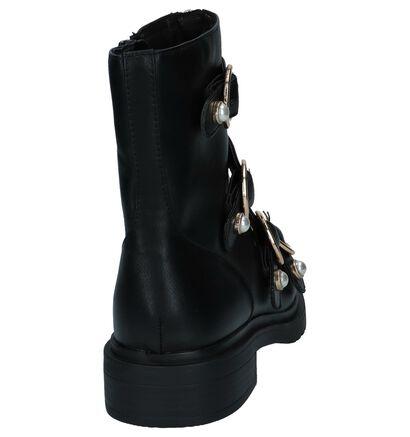 La Strada Zwarte Stoere Boots in kunstleer (233592)