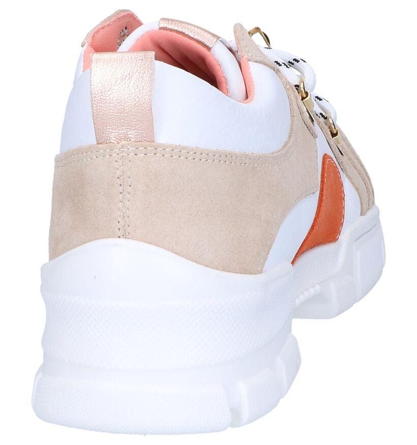 Wit/Beige Sneakers SPM Lulu in daim (261822)