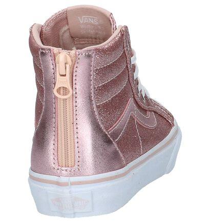 Hoge Skateschoenen Vans SK8 Roze met Glitters in stof (207936)