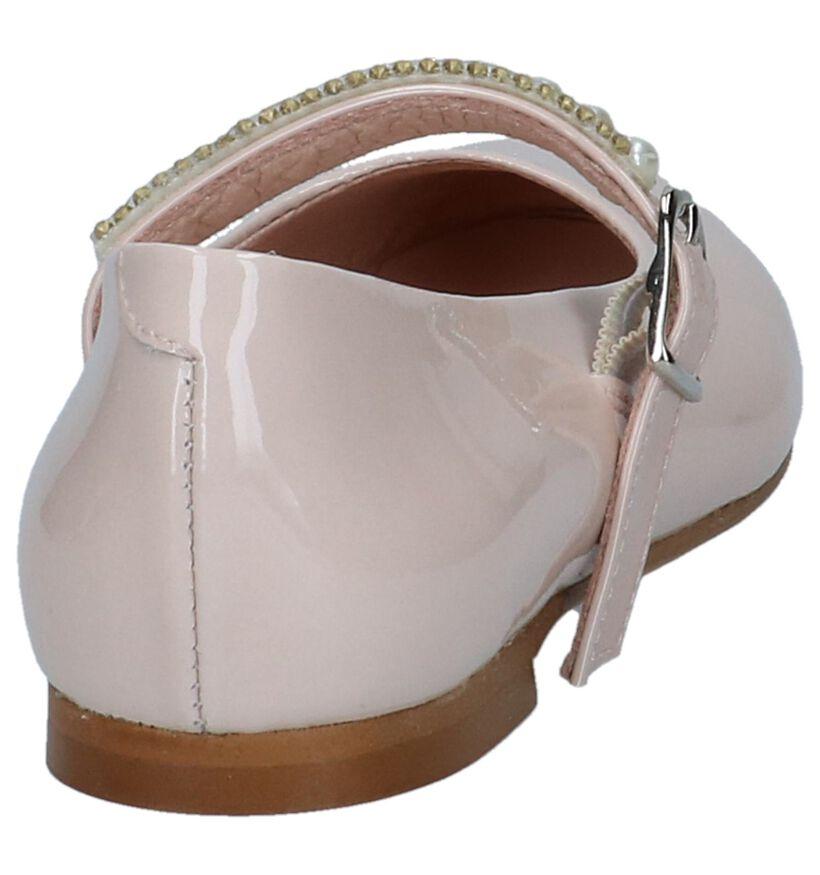 Lichtroze Laké Ballerina's met Bandje Oca-Loca in lakleer (240249)
