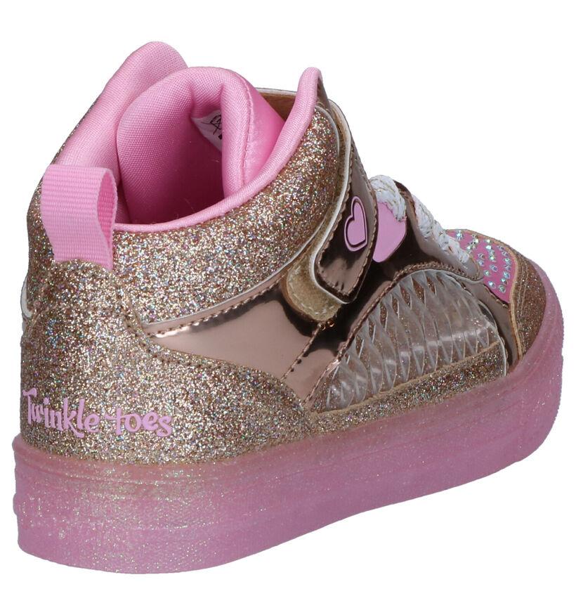 Twinkle Toes Baskets hautes en Rose clair en textile (256140)