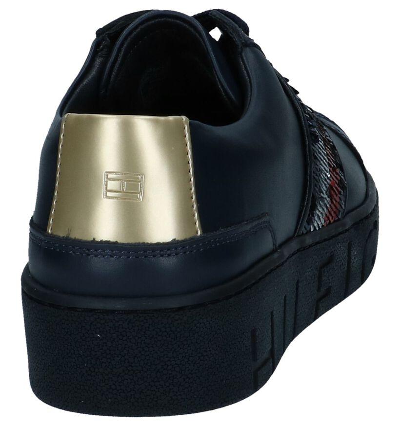 Donkerblauwe Geklede Sneakers Tommy Hilfiger in leer (237245)