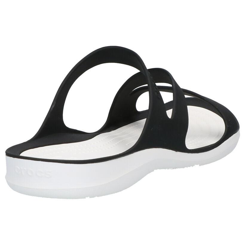 Crocs Swiftwater Zwarte Slippers in kunststof (270755)