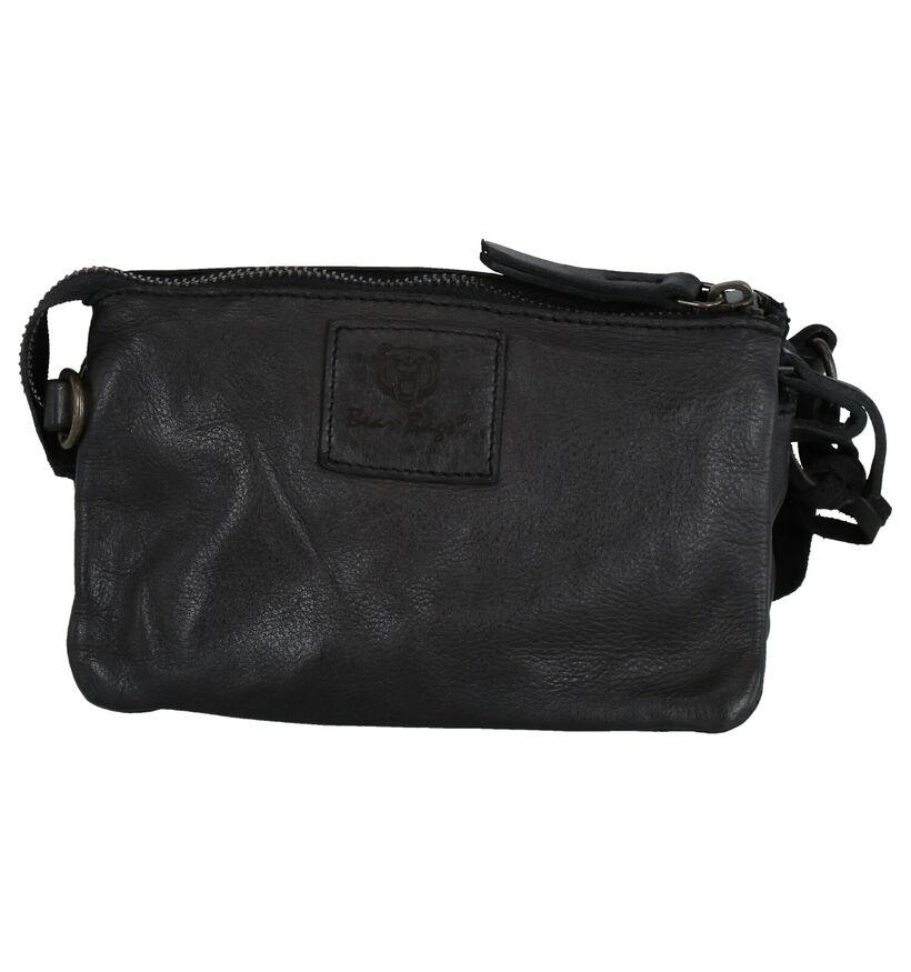 Bear Design Sac porté croisé en Noir en cuir (284321)
