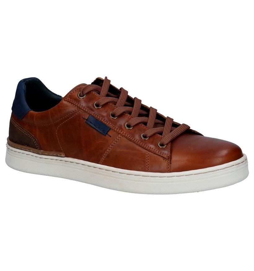 Bullboxer Chaussures basses en Cognac en cuir (300223)