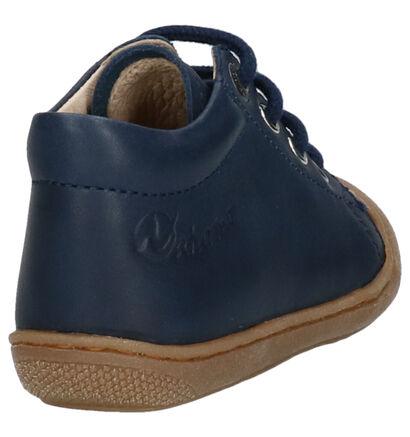 Naturino Cocoon Donkerblauwe Hoge Schoenen in leer (259887)