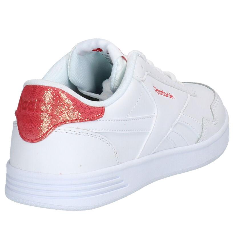 Reebok Royal Techqu Baskets en Blanc en cuir (248967)