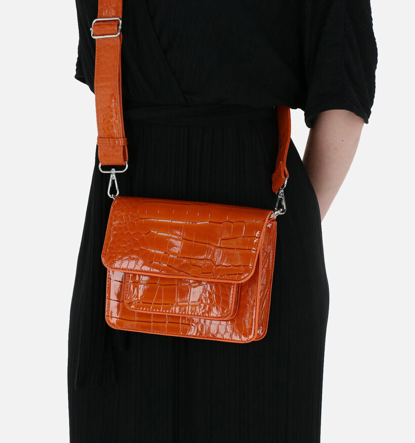 Hvisk Cayman Pocket Vegan Zwarte Crossbody Tas in kunstleer (287565)