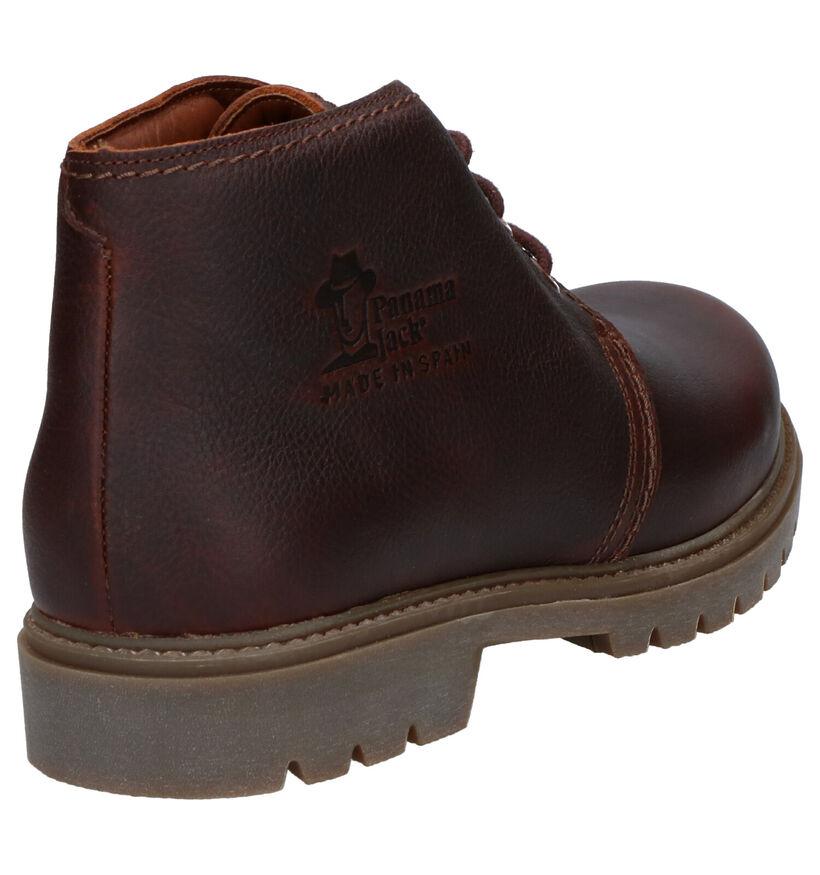 Panama Jack Bota Chaussures hautes en Brun foncé en cuir (259274)