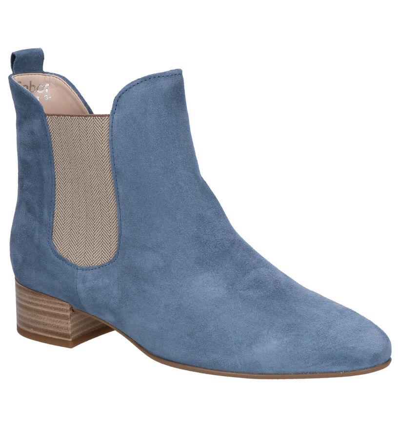 Gabor Bottillons à talons en Bleu clair en daim (271522)