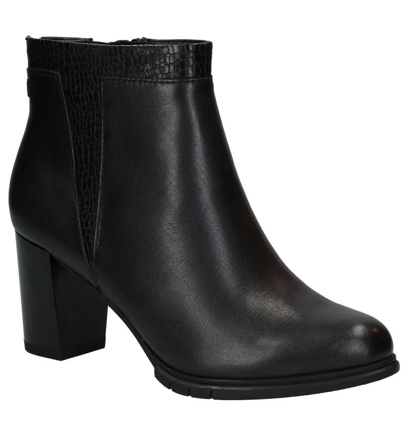 Tamaris Bottillons à talons en Noir en cuir (280680)