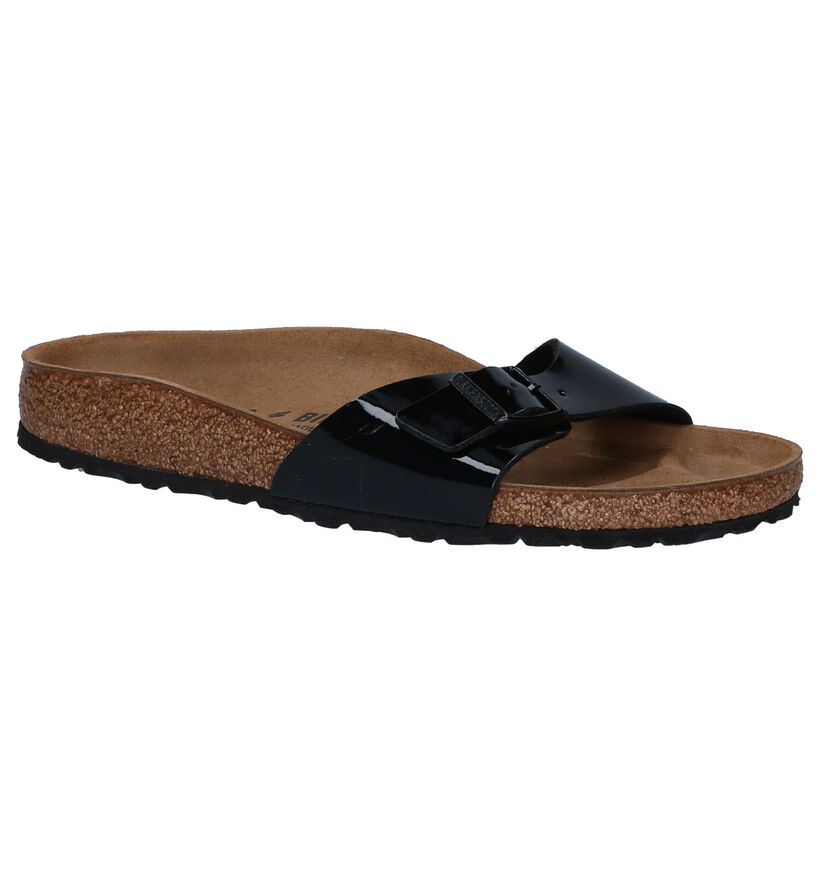 Birkenstock Madrid Zwarte Slippers in lak (271252)