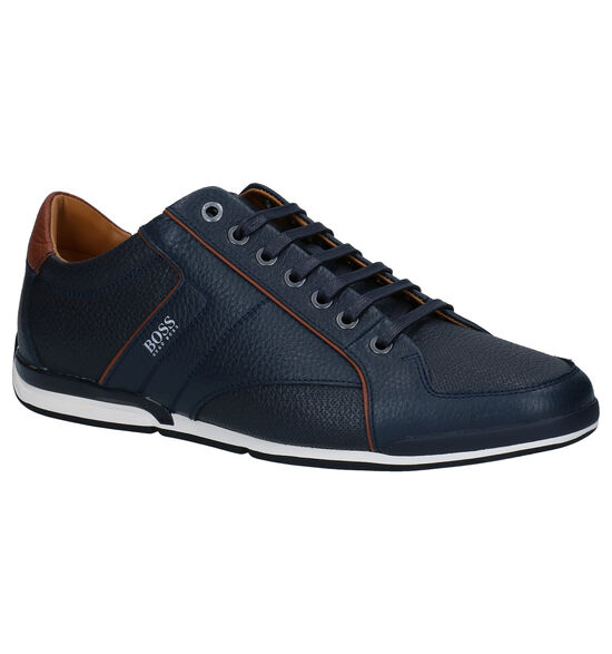 Hugo Boss Saturn Low Chaussures à lacets en Bleu